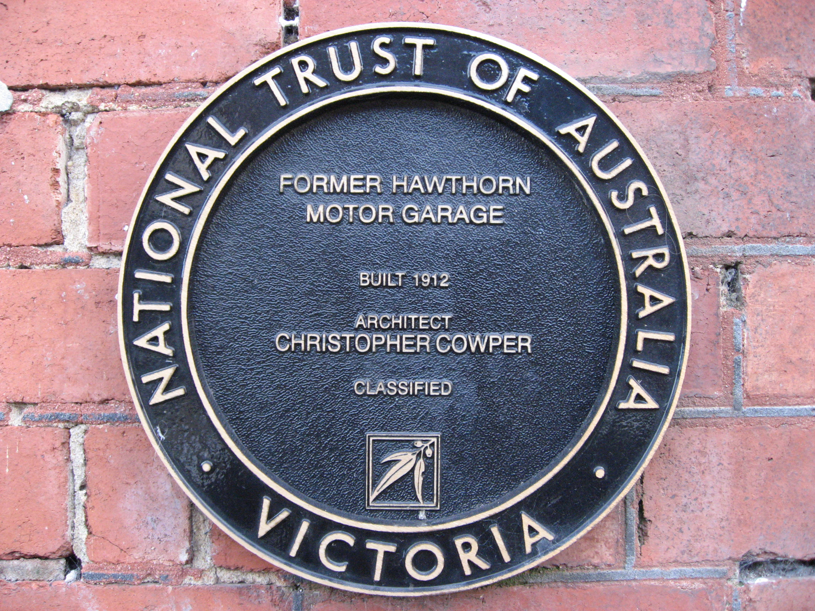 City of boroondara local history wiki licensed for non for Plaque w garage assurance